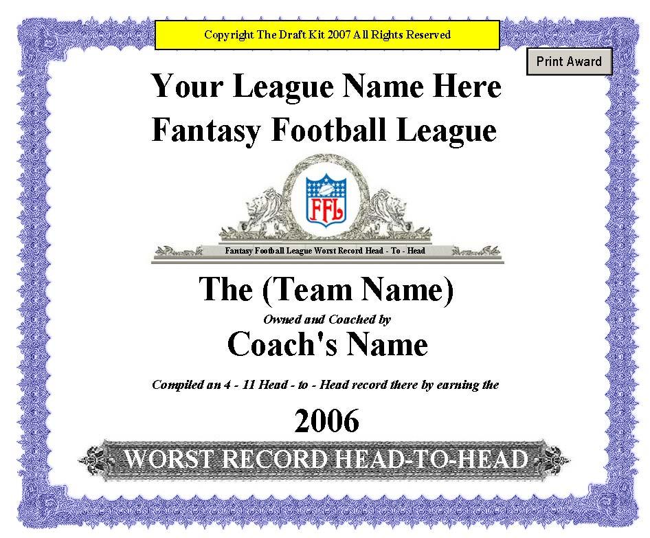 fantasy award maker sample page